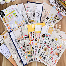 3D Large Korean Initial Diary Deco Sticker Black Outline Hangul Labels