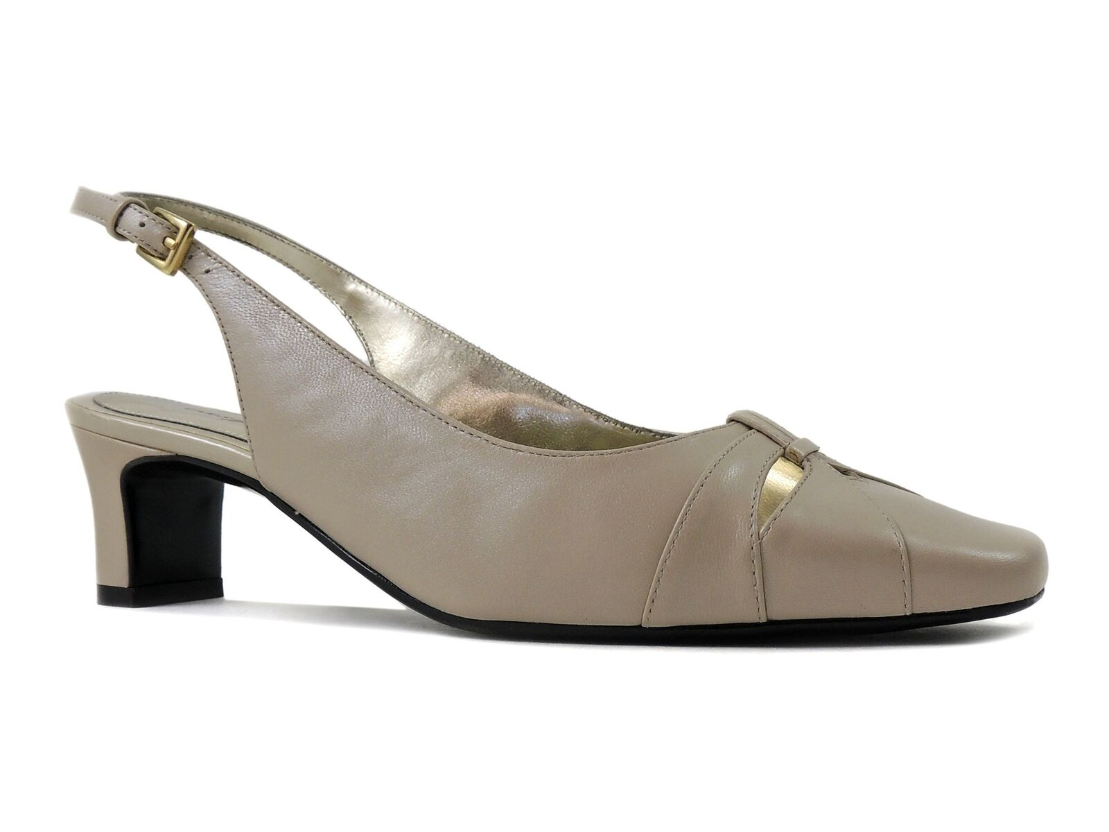 Easy Spirit Women's Calloway Slingback Leather Porcelain 6 Wide