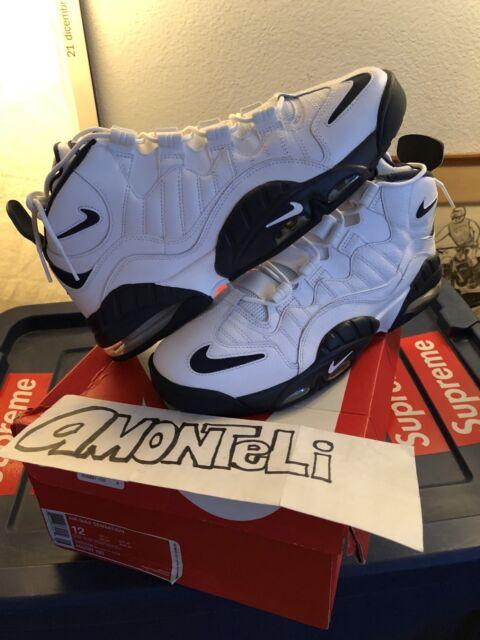 7c341f1e5531ff EUC Nike Air Max Sensation Basketball SNEAKERS Shoes Chris Webber White  Navy 12