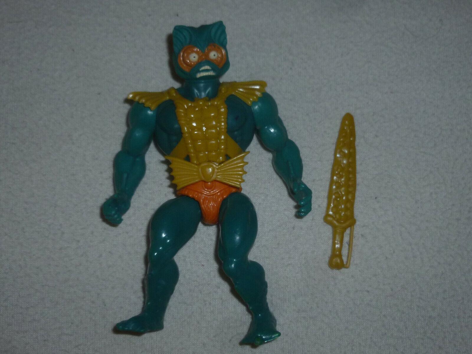 Vintage Figura De Acción Amos del universo Merman Heman 1981 Mattel Masters Universo Completa