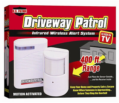 Driveway Patrol Garage Motion Sensor Alarm Secure System Wireless Alert Infrared