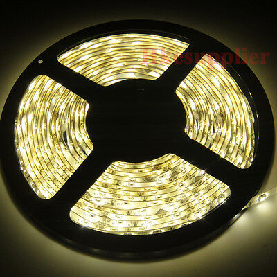 5M 300 LED 3528 Warm White Waterproof Led Light Strip 12V
