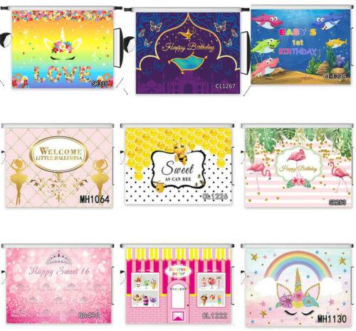 Vinyl /& Polyester Studio Backdrop Child Birthday Custom Background Photography