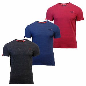 Superdry-Mens-New-Orange-Label-Crew-Neck-Short-Sleeve-T-Shirt-Black-Red-Blue