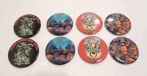 8 Vintage Ninja Turtles Pins 1990/'s