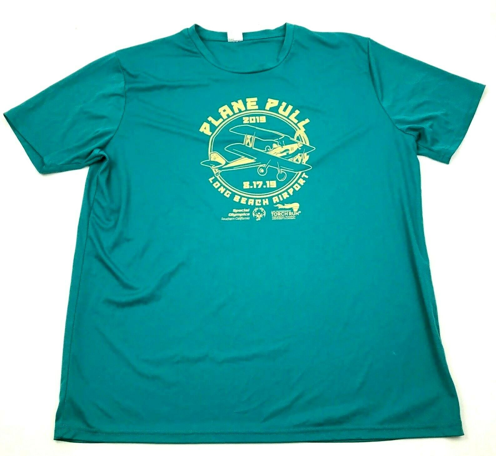 Special Olympics Plane Pull Shirt Size 2XL XXL Adult Dry Fit Tee Short Sleeve