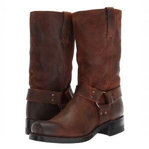 3199395a3 Frye Men's Harness 12R Brown Suede Motorcycle Boot 3486180-BRN 86180 ...