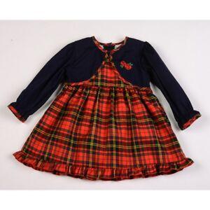 47350f72b Spanish Style Romany Baby Girl Red Tartan Dress 12 months 18 months ...