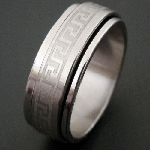 Edelstahl Ring Herren Damen Bandring Partnerringe Gr 57-66 18mm-21mm H66