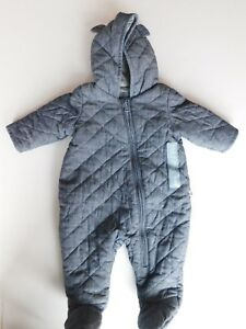 NWT-Gap-Baby-Boy-Quilted-1pc-Chambray-Bear-Outerwear-Premie-amp-0-3-Months-New