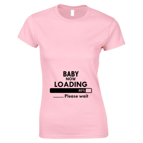 Baby Now Loading Funny Maternity Pregnancy Top Womans T Shirt Baby Shower Gift