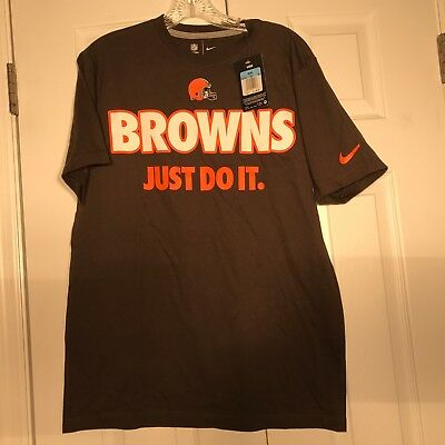 NIKE NFL TEAM Mens CLEVELAND BROWNS JUST DO IT  T-Shirts Size:S //M// L// XL NWT