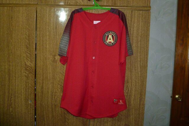 b3e163bb Atlanta United FC Mitchell & Ness MLS Soccer USA Football Jersey Baseball  Size L