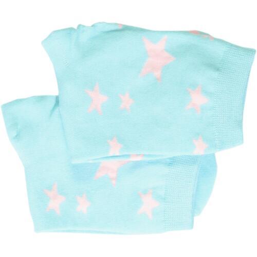 Sterne hellblau 33-40 4 Paar Baumwolle atmungsaktiv /& weich cosey dünne Socken