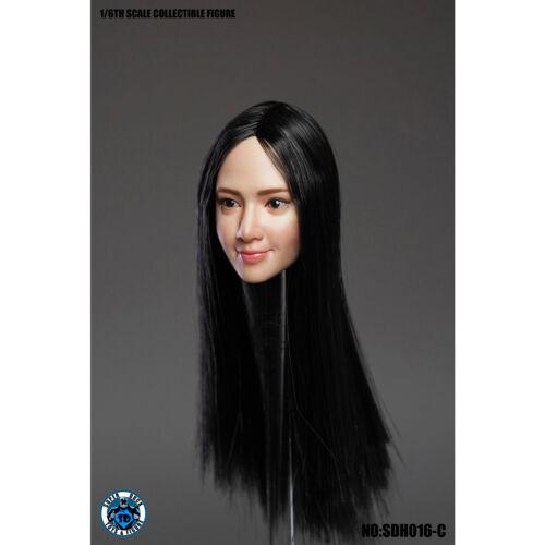 """SUPER DUCK SDH016-C Female Head Sculpt Fit for 12/"""" Action Figure"""