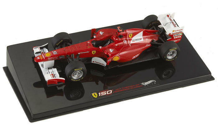 Hot Wheels Elite Ferrari 150  Turkish GP 2011 Fernando Alonso 1 43