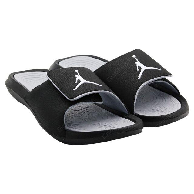 Nike Jordan Hydro 6 Slides Sandals Size 8 US Black/Wolf Grey 881473 011 Nib