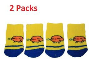 2-X-Cute-Bird-Design-Anti-Slip-Dog-Socks-Clean-Comfy-Paws-Pets-Puppy-4pcs-Size-S