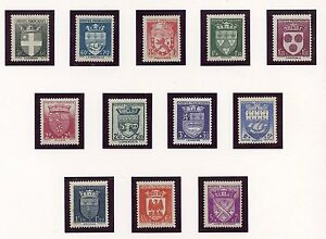 STAMP-TIMBRE-FRANCE-NEUF-SERIE-N-553-564-COTE-60-BLASON