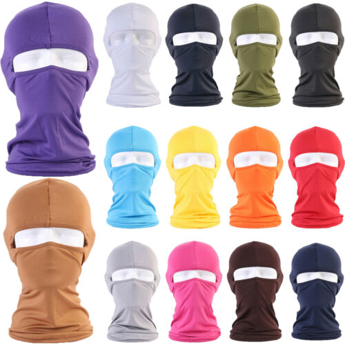 Lycra Balaclava Motorcycle Cycling Full Face Mask Neck Protect Motorbike Hoods
