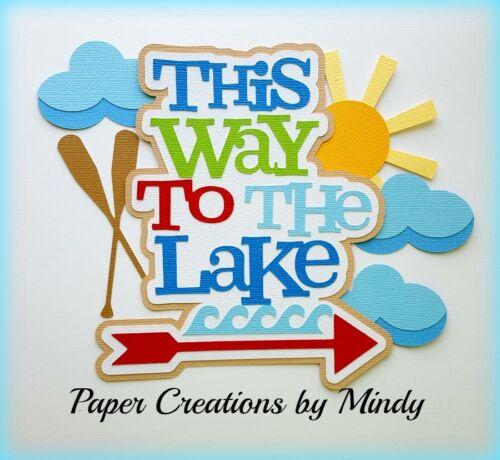 CRAFTECAFE MINDY LAKE CAMPING HIKING premade paper piecing TITLE scrapbook