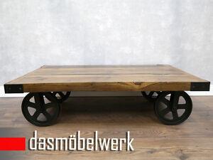 massivholz tische couchtisch holz industrial design shabby chick loft af2043 wow ebay. Black Bedroom Furniture Sets. Home Design Ideas