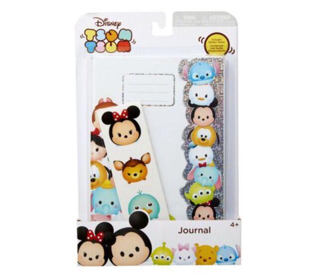 New Disney Tsum Tsum Journal With Sticker Sheet Girl Boy Stationary Gift Set