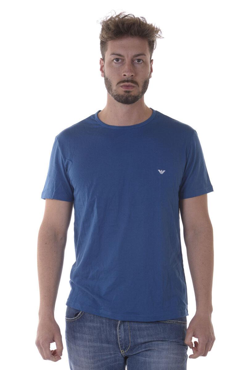 T shirt Maglietta Emporio Arhommei Sweatshirt hommes Azzurro 1112677P722 18033