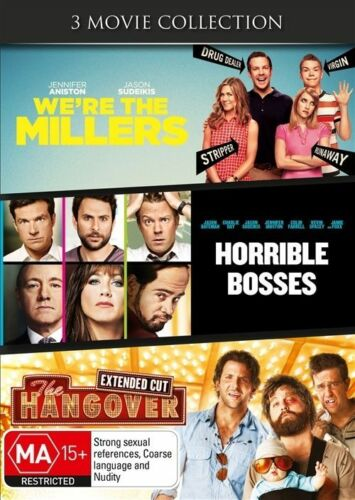 1 of 1 - The Horrible Bosses / We're The Millers / Hangover (DVD, 2014, 3-Disc Set)