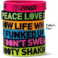 Zumba Express Yourself Rubber Bracelets - 6 Pack Free Shipping