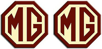 JasonCarlMorgan MG TF LE500 2009-On Burgundy and Cream Front /& Rear Insert Badges 90mm//70mm