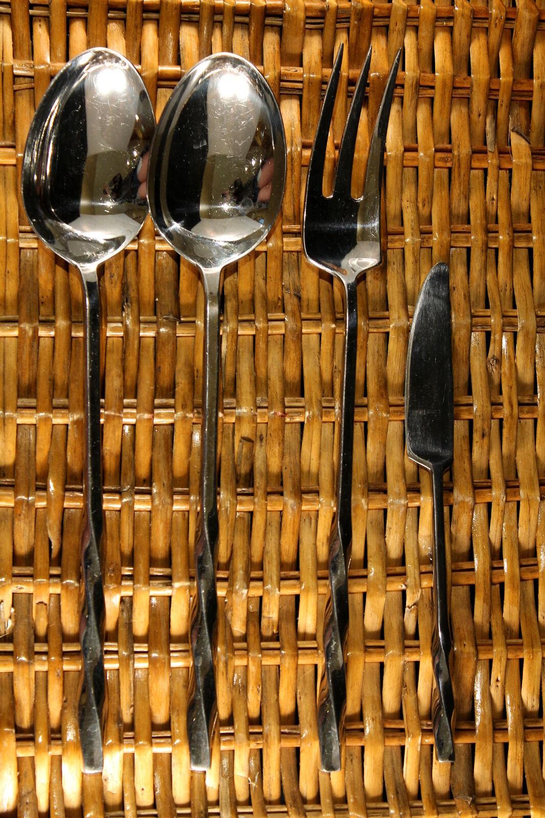 DANSK SPIRA inoxydable -- serving Fourchette Cuillère Coutellerie Couteau à beurre Set