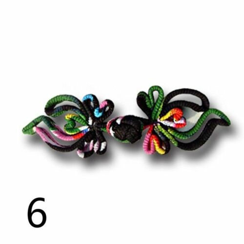 3 Pairs Ethnic Chinese Frog Fasteners Closure Button Knots Craft Vintage Retro