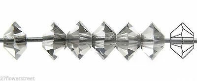 36 Czech MC Spacer Beads Squished Diamond shape 5305 3x5mm Montana blue color