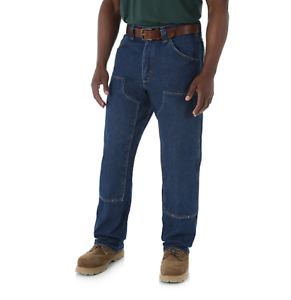 92460b42882844 Image is loading WRANGLER-Riggs-Workwear-Double-Knee-Utility-Jeans-Cargo-