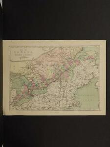 Map Of Canada In 1873.Details About Antique Map 1873 Ontario Quebec Canada R4 16