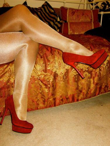 Rétro Nylon élégant Collants Collants Brillant Haute Brillance Glamour ** RÉDUIT **