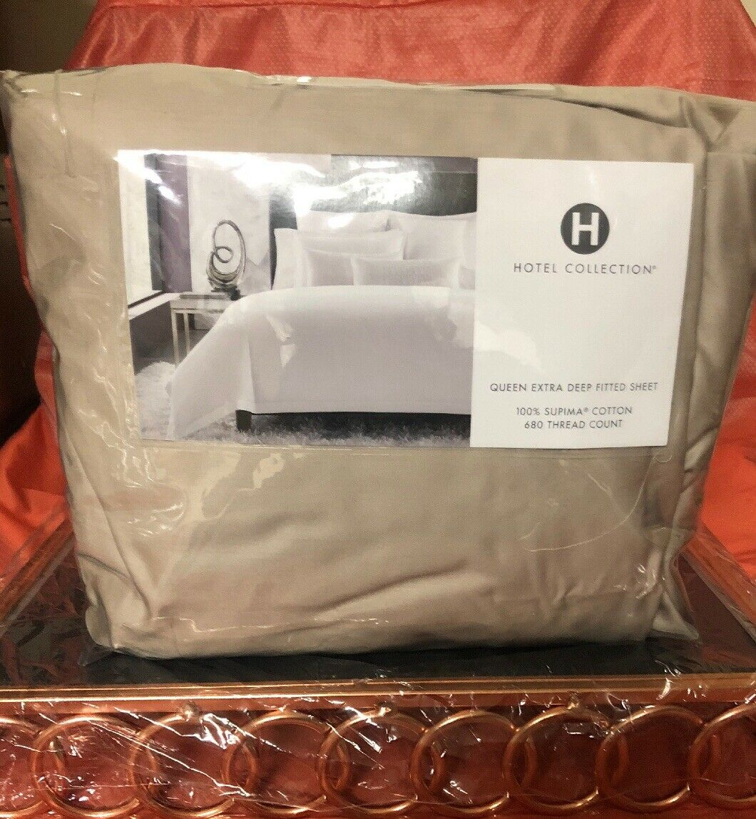Hotel Collection 680TC Queen Xd Drap Housse. 100% Supima coton PDSF  210.00