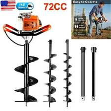 6272cc Post Hole Digger Gas Powered Earth Auger Borer Fence Ground Drill3 Bit