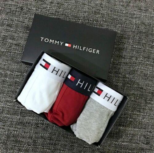 3//5 Pack Pac  Hilfiger Men/'s Boxer Underwear Trunks Premium Essentials+BOX@