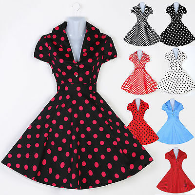Vintage Style 50s 60s Swing Pinup Party Prom Dresses PLUS SIZE XS~XL