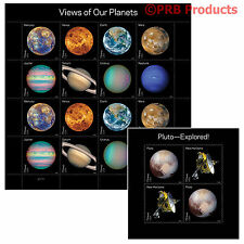 20 USPS Forever Stamp Views of Our Planets & Pluto Explored Space Solar System