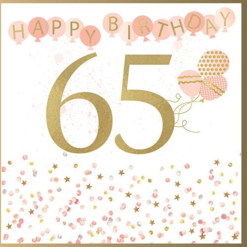 65th Birthday Card 15 x 15 cms 65 Today Rush Design