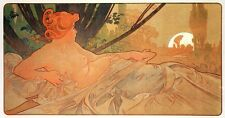 Dawn Alphonse Alfons Mucha Nude Reproduction Art Nouveau Deco Poster Print NEW