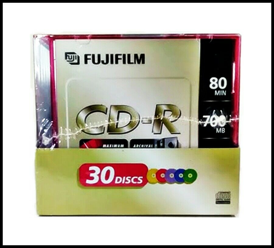 FUJIFILM 30 Pack CD-R Slim Jewel Case All Purpose 700MB 80 Min Data Music Photo