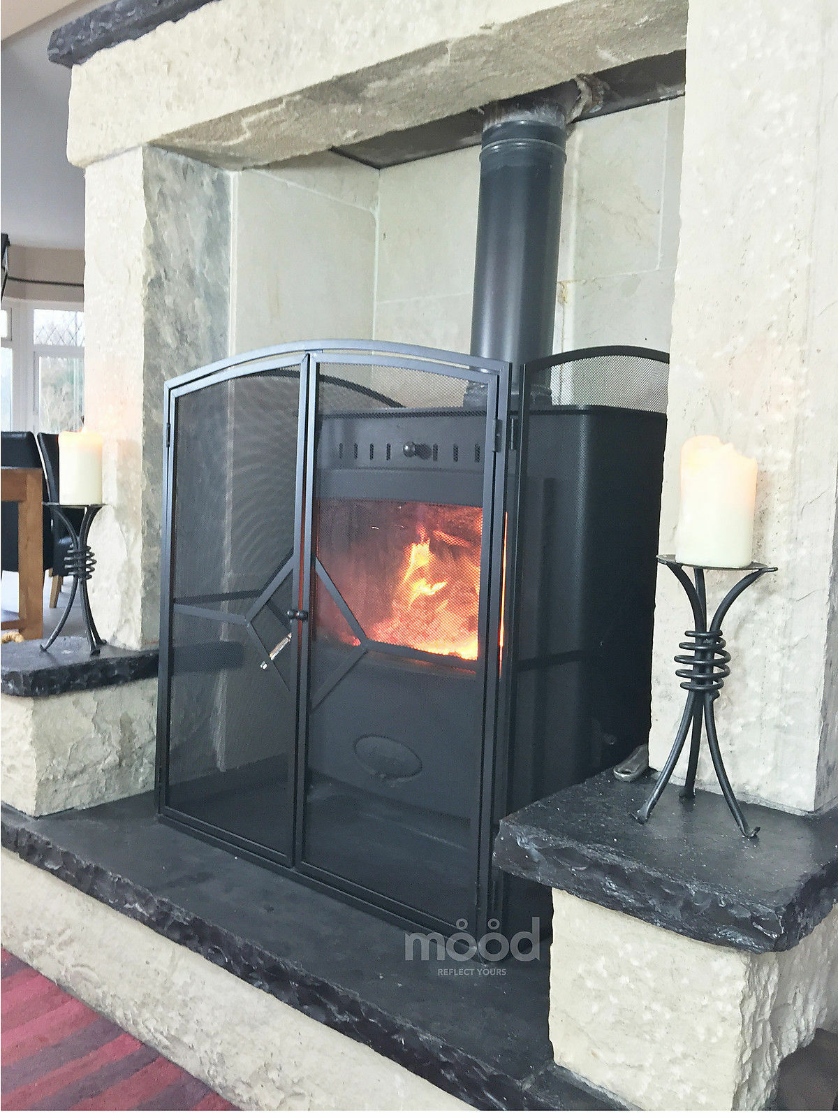 fire stove guard screen h32