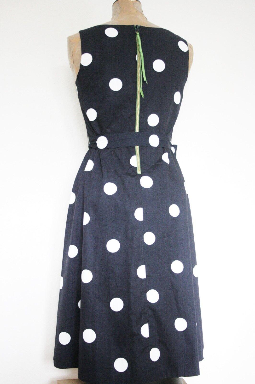 Joules BETTE BNWT Navy bluee Polkadot Dress Dress Dress Sz 8 b4a7ff