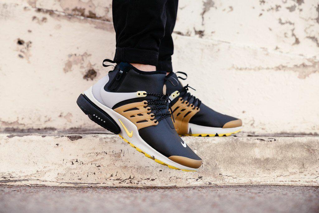 Nike Air Presto Mid Utility Nero Yellow GOLD Copper 12 859524 002