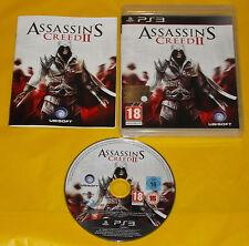 ASSASSIN'S CREED II 2 Ps3 Versione Ufficiale Italiana 1ª Edizione ••••• COMPLETO