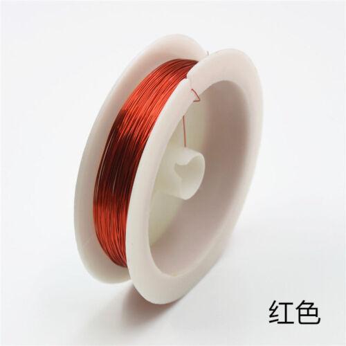 Draht Linie Für DIY Schmuck Machen 0,3 0,4mm 11 Farben Soft Kupferdraht